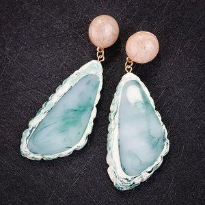 Acrylic Stone Green Earrings
